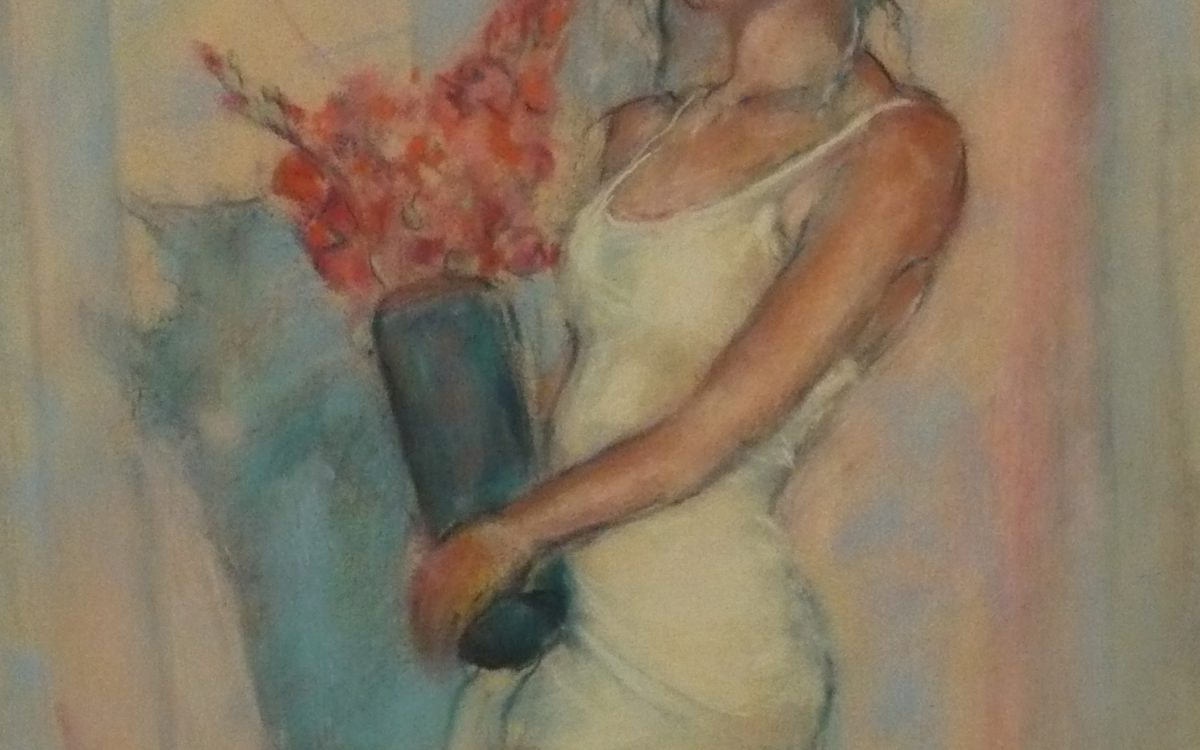 Woman and vase